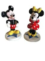 DISNEY MICKEY AND MINNIE MOUSE FIGURINES SCHMID PORCELAIN MINT CONDITION!