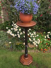 More details for antique  plant stand - jardiniere -  mahogany display stand