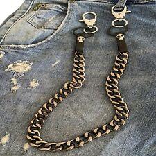 catena jeans nera da pantalone portafoglio portachiavi in alluminio pelle biker