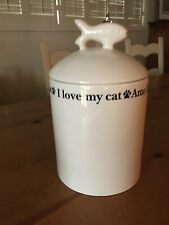"""Unique Container for Cat Food or Treats """"I Love My Cat"""""""
