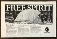 1979 Diamond Brand Naples NC Free Spirit Tents Print Ad