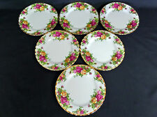 6 OLD COUNTRY ROSES SIDE / BREAD PLATES, 1st QLTY, VGC, 1993-2002, ROYAL ALBERT