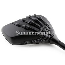 MOTORCYCLE MOTORBIKES SKELETON HAND CLAW REAR VIEW BILLET MIRRORS UNIVERSAL FIT