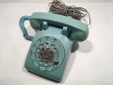 Vintage Teal Rotary Dial ITT Lippincott Desk/Table Telephone