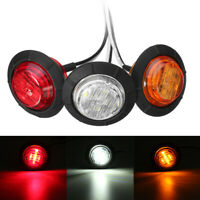 12V LED Round Side Marker Clearance Light Indicator Tail Lamp Car Truck Trailer