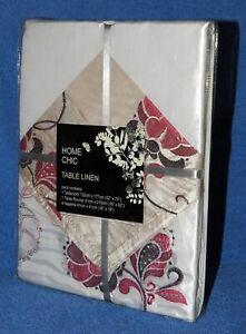 HOME CHIC Table Linen Set (Tablecloth / runner / 4x napkins) <MORELLO>