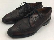 Allen Edmonds SHELL CORDOVAN macneil wingtip dress shoes size 9 E burgundy 9097