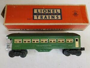 Lionel Postwar 6441 Observation Car