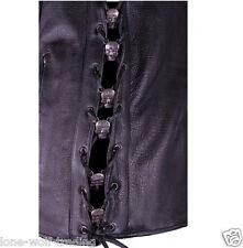 Skull Punisher Style Lace-Up Biker Vest Extender-#AC1201