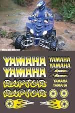 Raptor yamaha YELLOW Airbrush Style 16pc atv Quad Decals Stickers 660R,350