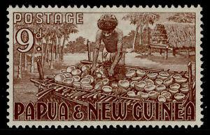 AUSTRALIA - Papua New Guinea QEII SG9, 9d brown, M MINT.