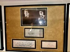 David Bowie & Morrissey Signed  Autographed Display w/ Ticket Stub- Epperson COA