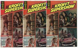 Krofft Supershow #1 (3 copies)  avg. FN- 5.5  Photo Cover  Gold Key  1978