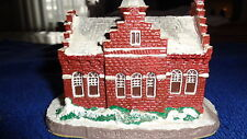 """Norman Rockwell Main Street """"Town Offices"""" Christmas Village"""