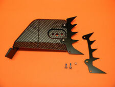 STIHL 044 064 066 MS440  MS650 MS660 SIDE COVER DOG SPIKE SET CARBON FIBER LOOK