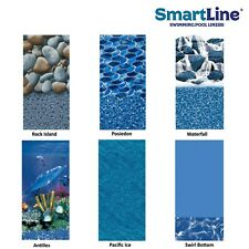 25 Gauge Round or Oval Overlap Swimming Pool Liner (Choose Pattern & Size)