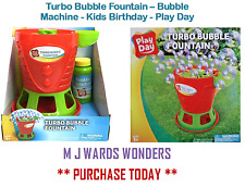 Turbo bolla FONTANA -- BUBBLE MACHINE-Kids Compleanno-Play giorno