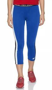 New Balance Accelerate Capri 2.0 Tights Women's Sz LARGE Blue/Black WP91133 NWT