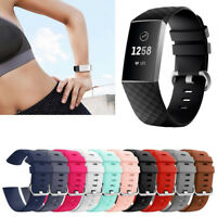 For Fitbit Charge 3 Replacement Smart Watch Bands Strap Bracelet Wrist Band S/L