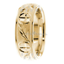 MENS WOMENS 10K SOLID GOLD VINTAGE CROSS WEDDING BANDS RINGS MEN WOMEN BAND RING