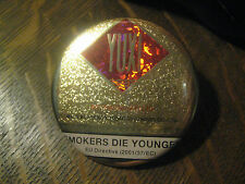 Yuxi Chinese Hongta Cigarettes Smokers Die Younger Advertisement Button Pin $20