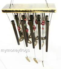 Feng Shui Lucky Coin Metal Brass Bell Wind Chime Harmony Outdoor Yard Garden #A