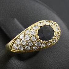 Design Ring Brillanten ca. 1,00 ct. Saphir ca. 0,70 ct.   4,2g 750/- Gelbgold