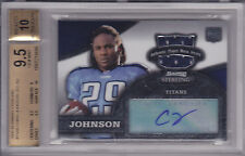 2008 Bowman Sterling Chris Johnson RC Jersey Auto BGS 9.5 w/10 Tennessee Titans