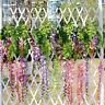 Artificial Fake Wisteria Vine Ratta Hanging Garland Silk Flowers Hanging Decor