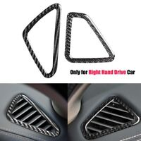 Carbon Fiber Air Vent Outlet Cover Trim Sticker For BMW X5 F15 X6 F16 14-17 RHD