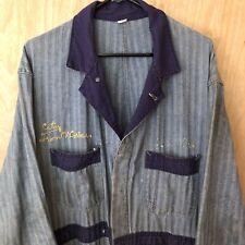 """Vtg Coveralls """"City Iron Worker� Pacific Herringbone Twill 50 Button Scranton"""