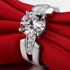 1.50 Ct Off White Moissanite Engagement Wedding Ring 925 Sterling Silver