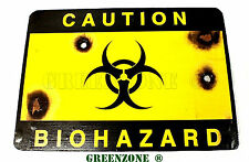 Caution Bio Hazard Wooden Wall/ Door Plaque/ Sign for Children's/ Kids Bedoom