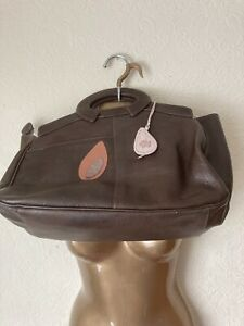 Radley Large Brown Leather Bag With Contrasting Trim In Excellent Condition