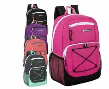 "Lot of 24 Wholesale URBAN SPORT 18"" Girls Bungee Backpacks With Side Pockets"