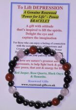 To Lift DEPRESSION - a 'Themed' Gemstone & Crystal Power Bracelet plus gem pack