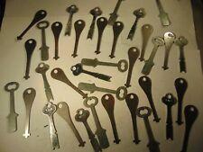 35 old vintage uncut STEEL  Padlocks   Keys       locksmith