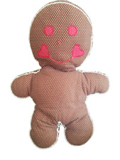 "Stuffed Gingerbread Man Plush Doll 18"" Happy and Creepy!"