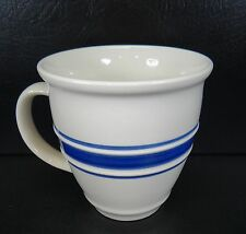 Tienshan Country Crock Mug Blue Band Trim Multiples Available