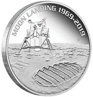 50th Anniversary of the Moon Landing 1oz Silver Proof Coin Australia 2019