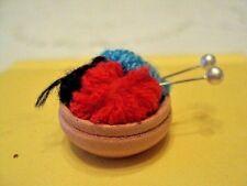 Dollhouse Miniature Sewing& Knitting Basket   1:12