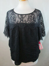 NWT XHILARATION XXL 18 WOMENS PLUS SIZE BLOUSE SHIRT TOP LACE EYELETS DESIGN