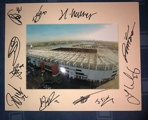 Middlesbrough FC Boro 21/22 HAND SIGNED 10x8 MOUNT DISPLAY Signed By 12 Player E