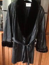 Ladies Wallis Black  Fur Cuff And Collar Long  Winter Jacket .size 12 Petite