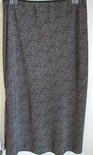 VINTAGE BLUE Black 100% Polyester Below Knee Knit Skirt Junior Womens Sz 11