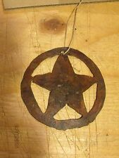 Western Rustic Texas Star Christmas Tree Ornament Holiday Home Decor Country