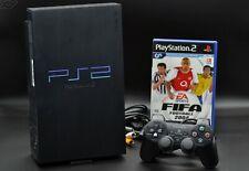 Original Sony PlayStation 2 Fat Lady PS2 Schwarz + Dualshock 2 Controller - Gut
