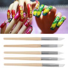 Pro. 5Pcs Nail Art Silicone Sculpture Pen Nail Art Pencils Salon Tool Set