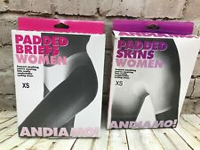 Andiamo Padded Womens Skins and Briefs Cycling Padded Shorts Size XS NEW