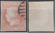SELLOS ESPAÑA 1852.  EDIFIL Nº 12. ISABEL II. USADO.